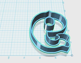 Vintage number 9 cookie cutter 3D print model