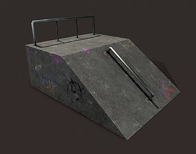 Skate ramp1 3D asset