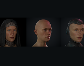 Woman Busts Game Ready 3D asset