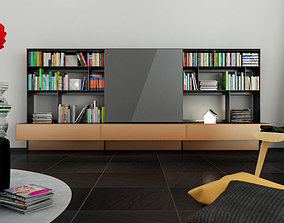 B and B Bookcase furniture 3D