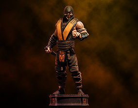 Mortal Kombat Scorpion Fanart - Statue 3D print model