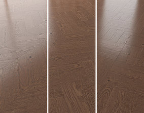 Parquet Oak Walnut Brushed set 4 3D