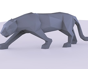 3D printable model low poly Panther