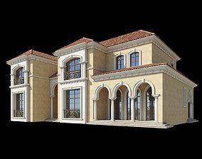 exterior Mediterranean Villa Design 014 3D