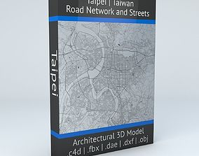 Taipei Road Network and Streets 3D