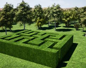 3D model Maze Garden Low-Poly