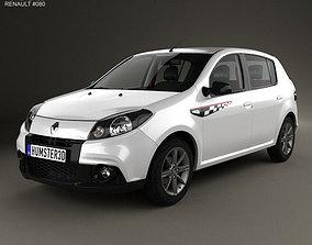3D model Renault Sandero GT Line 2012