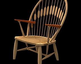 3D Wegner PP550 Peacock chair