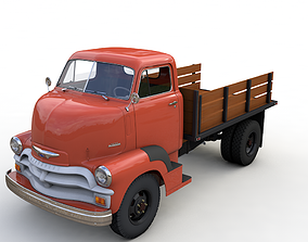 3D model CHEVY 6400 COE FLATBED TRUCK 1954