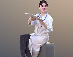Francine 10366 - Sitting Asian Doctor 3D model