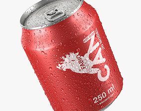 3D model Beverage Can With Water Droplets 250ml