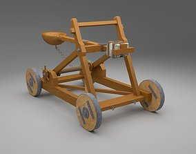 3D asset Catapult in Medieval War Equipments