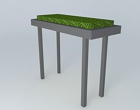 3D Skinny planter bed