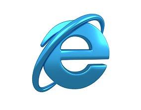 3D model Internet Explorer Logo v1 006