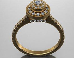 3d model female ring silver