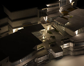 Revit renovated mixed use building as 3D model 1