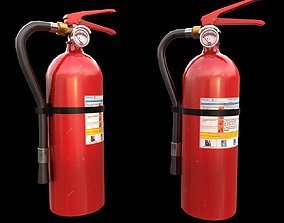 3D model Fire Extinguisher game ready Low-poly PBR