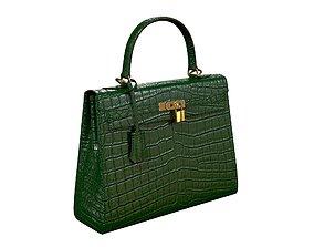 Hermes Kelly Bag Green Crocodile 3D model