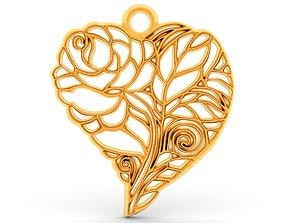 3D print model heart pendant 8