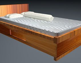 3D model Bed with pillow benoit