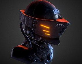 3D model Helmet low poly