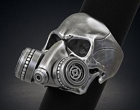 Skull Ring Gas Mask Respirator STL 3d model for 3d 1