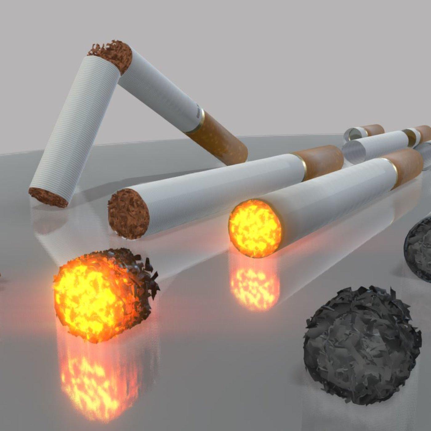 Modular Cigarettes Set (High-Poly)