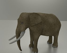 Elephant 3D model animated realtime