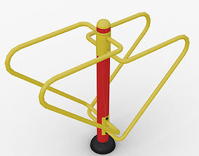 Outdoor fitness Equipment Dips Station 3D training