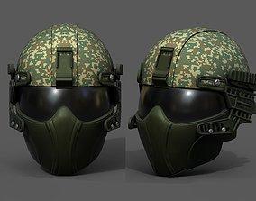 3D model Helmet scifi fantasy futuristic military combat