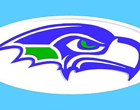 SeaHawks Streamline oval logo 3D