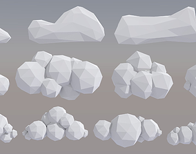 12 VR and Low Poly Clouds 3D model