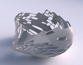 3D printable model Bowl helix with organic skin with holes