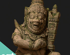 Ancient Statue Game Model game-ready