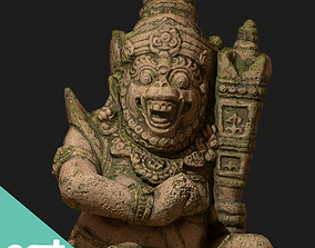 Ancient Statue Game Model 3D asset game-ready