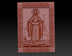 the icon of the Intercession of the 3D printable model