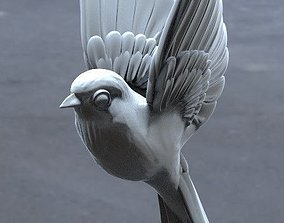 3D print model bird tit bullfinch