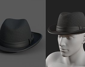 Human Hat cap cloth leather protection classic 3D asset