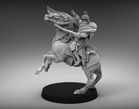 Sci-Fi Napoleon on horse miniature 3D printable model