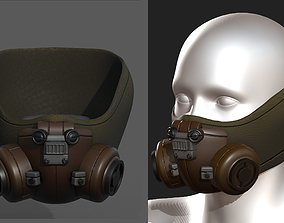 Gas mask helmet scifi fantasy armor hats 3D model 1