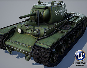 realtime KV-1 ussr Tank - game model