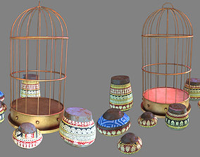 cage and jugs 3D asset
