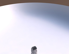 Vase quadratic tall with sharp ribbons 3D printable model