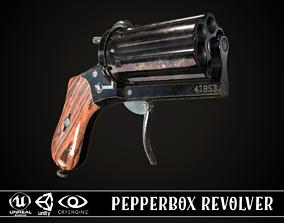 3D model Pepperbox Revolver Dark