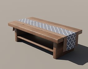 3D asset Japanese Table 4 - Tablecloth
