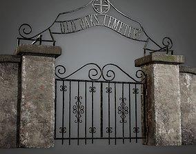 CEM - Cemetery Gate 2 - PBR Game Ready 3D asset