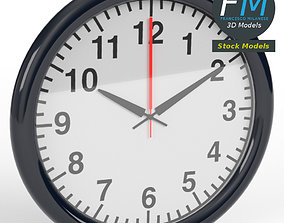 Office wall clock 1 3D model