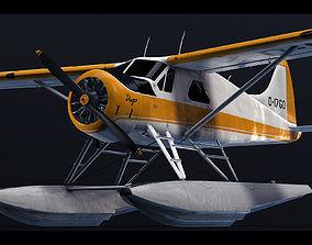 DHC-2 Beaver Seaplane 3D asset