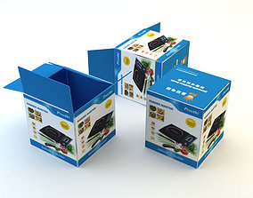 3D model Cardboard Box 5