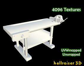 3D asset low-poly Workbench